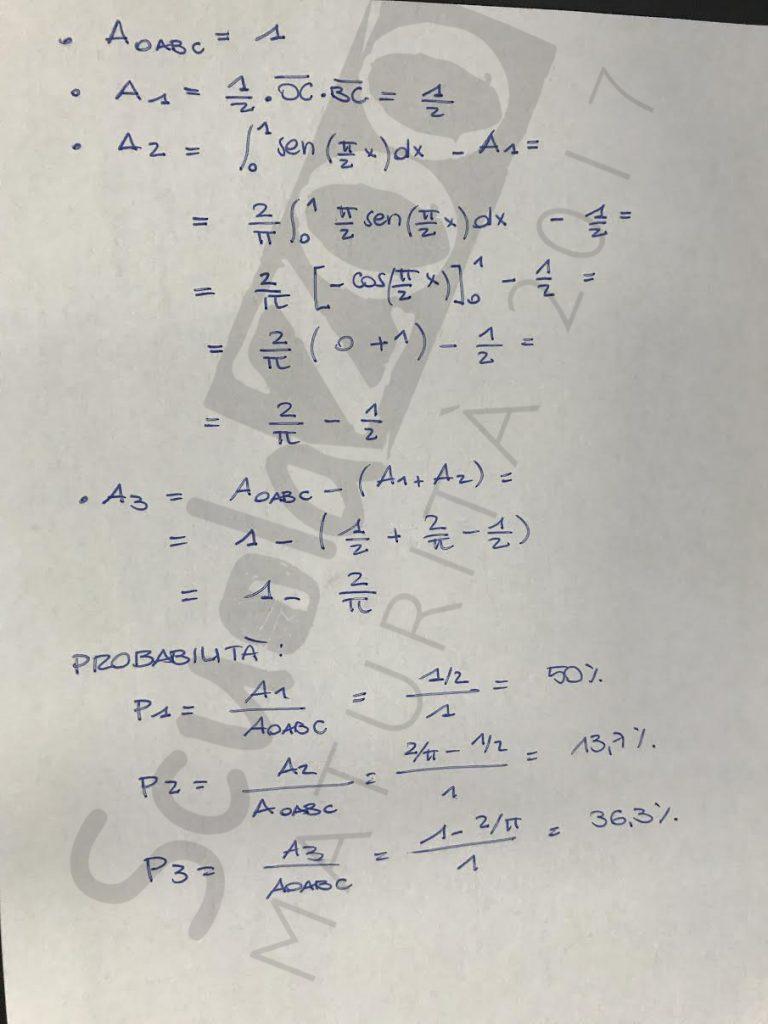 Soluzione problema 2 matematica Maturità 2017 pagina 2