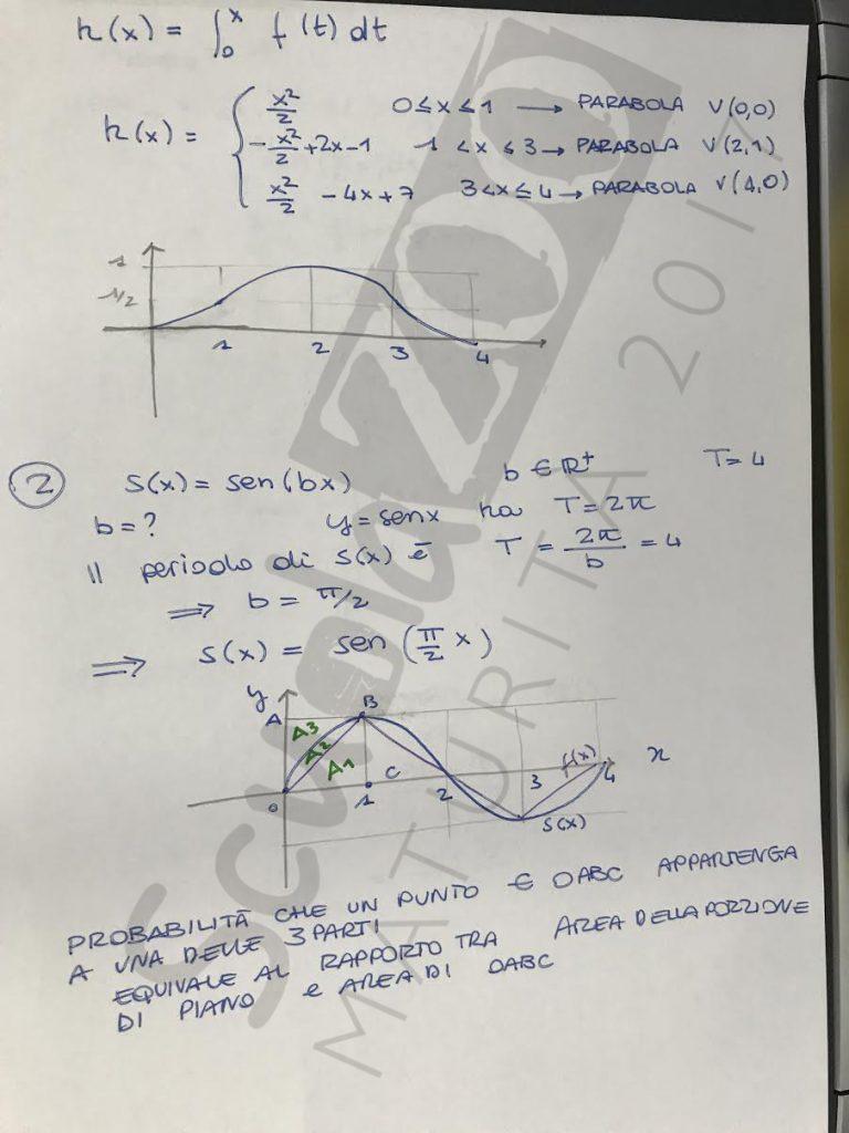 Soluzione problema 2 matematica Maturità 2017 pagina 3
