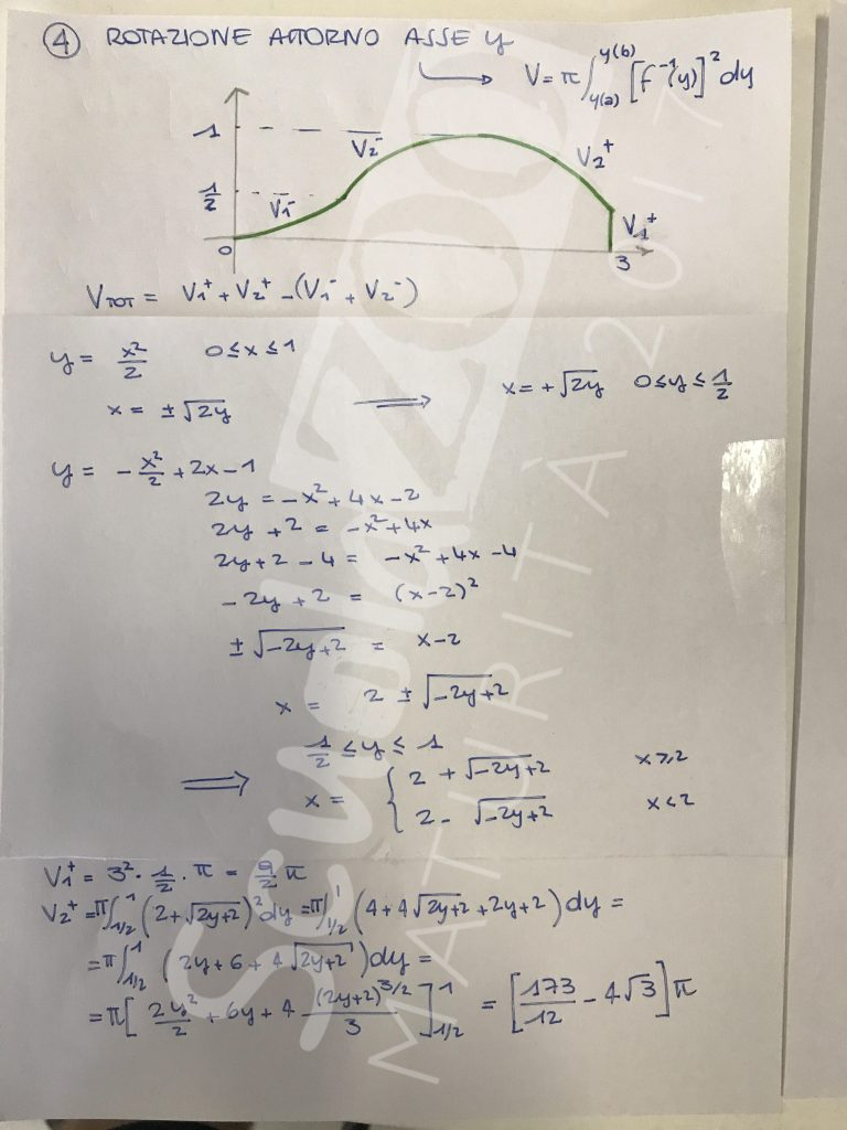 Soluzione problema 2 matematica Maturità 2017 pagina 5 corretta