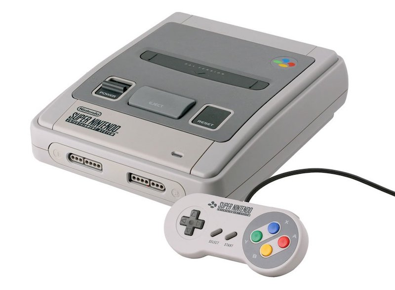 Super Nintendo Mini vista laterale