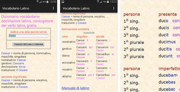 Vocabolario Latino Declinatore