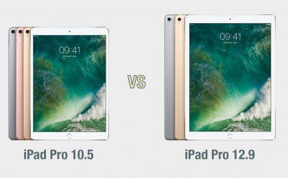 iPad Pro 10.5 vs iPad Pro 12.9: il confronto