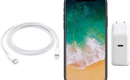 iPhone 8 con USB Type-C per la ricarica batteria velocissima
