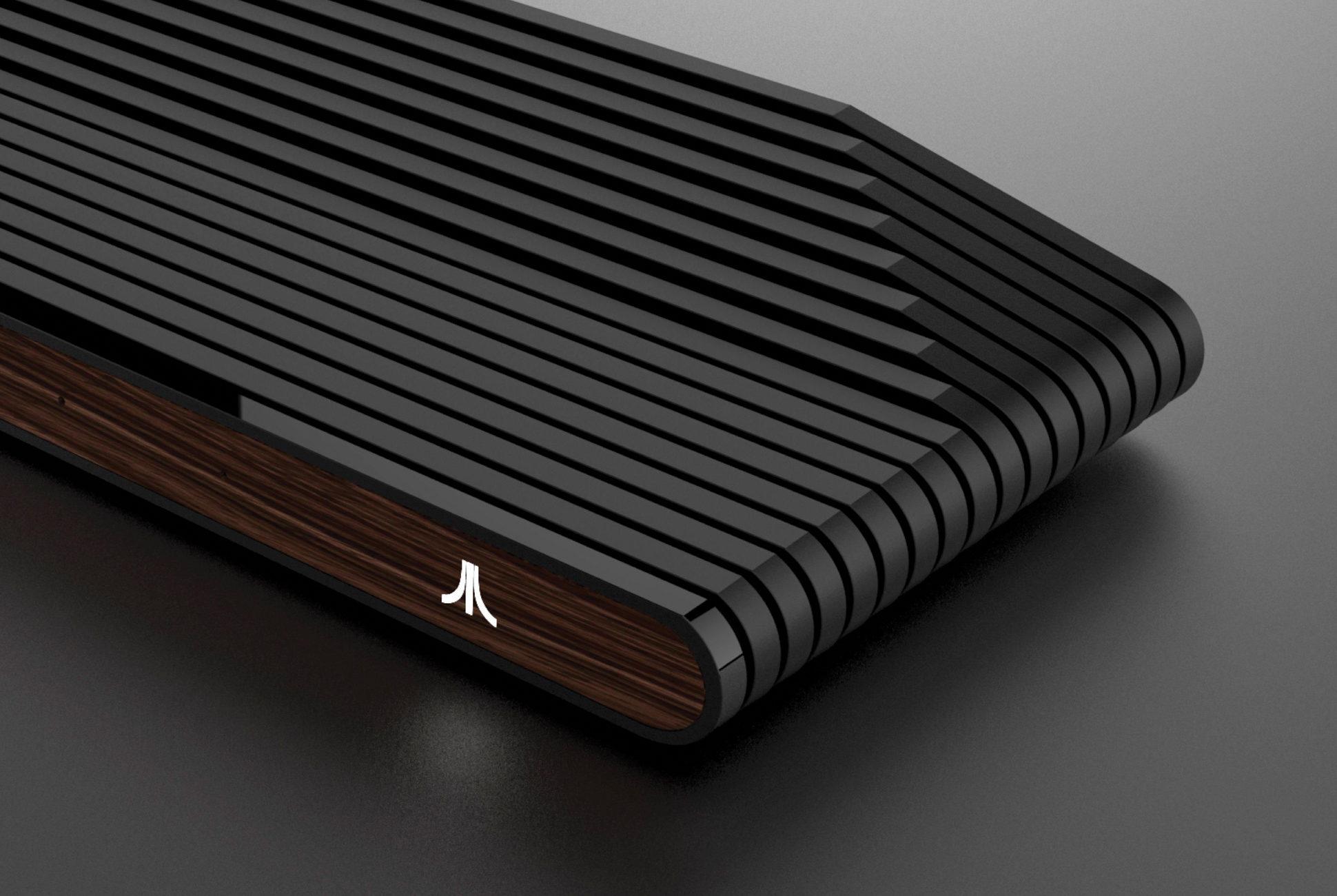 Console Ataribox lato legno