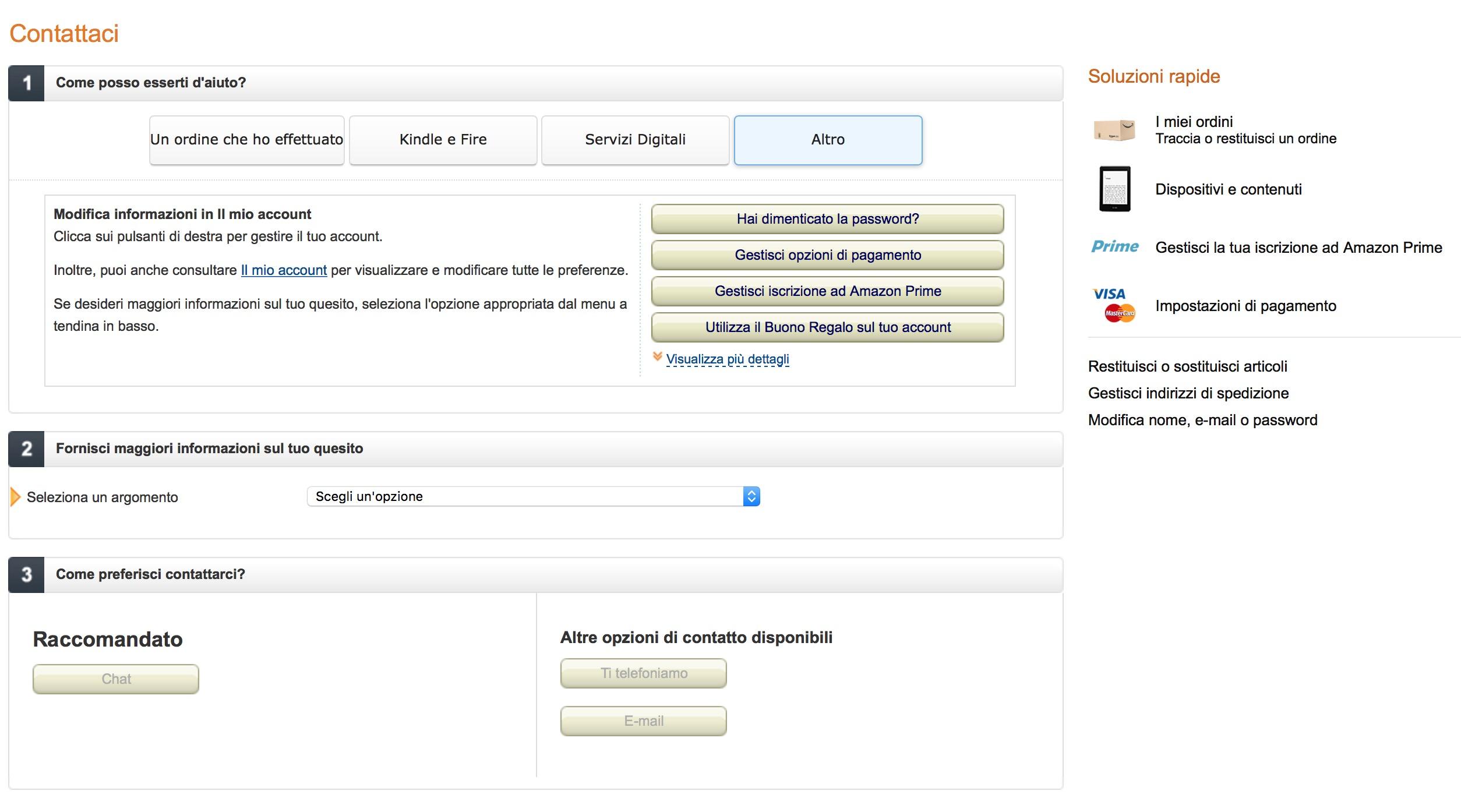 Contattaci Amazon