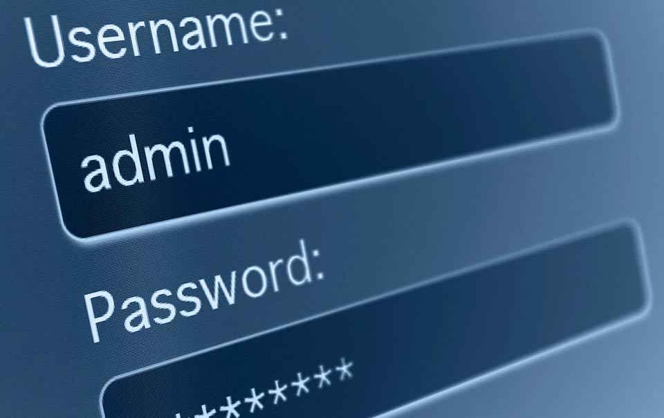 Dove scrivere password