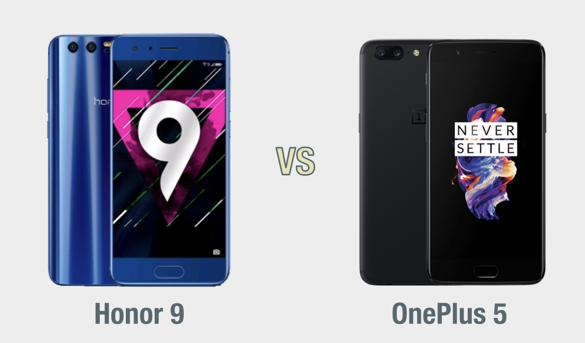 Honor 9 vs OnePlus 5: il confronto