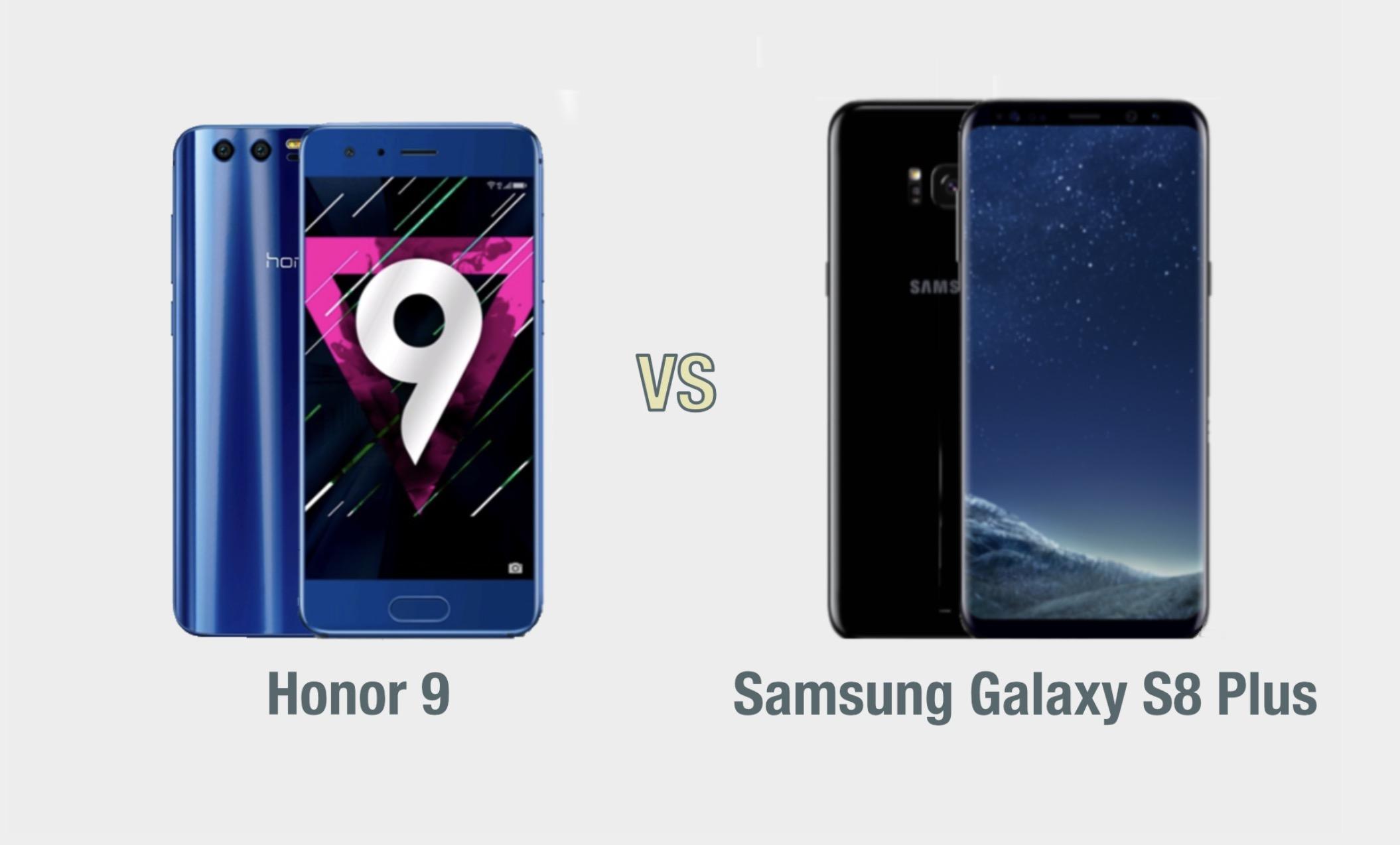Honor 9 vs Samsung Galaxy S8 Plus: il confronto