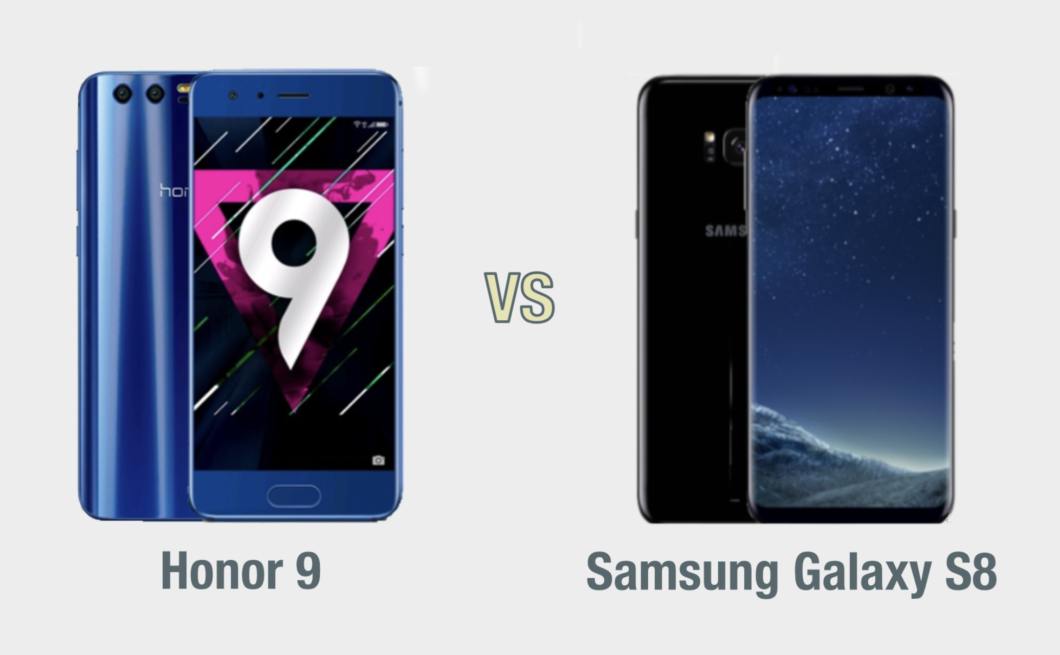 Honor 9 vs Samsung Galaxy S8: il confronto