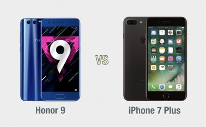 Honor 9 vs iPhone 7 Plus: il confronto