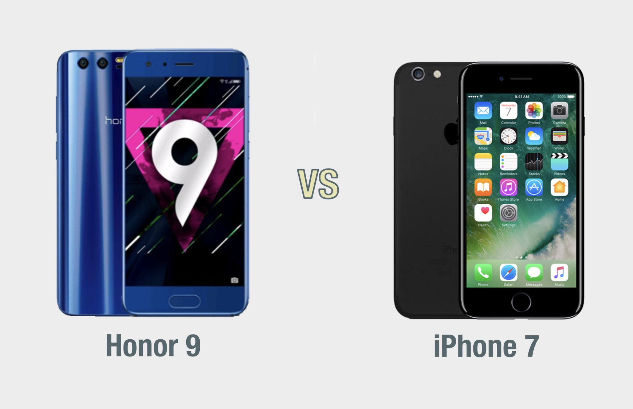 Honor 9 vs iPhone 7: il confronto
