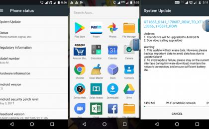 Moto M in aggiornamento a Android 7 Nougat