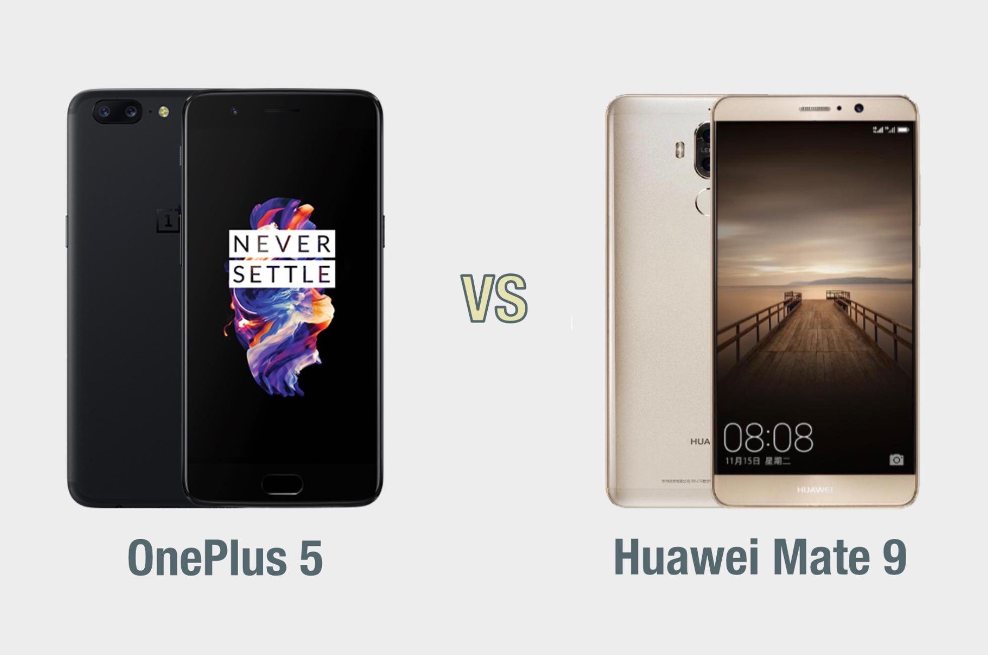 OnePlus 5 vs Huawei Mate 9: il confronto