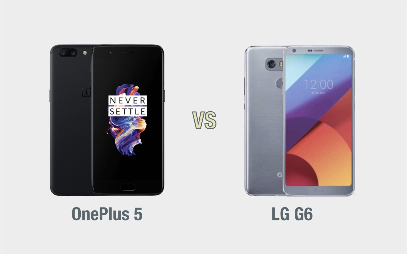 OnePlus 5 vs LG G6: il confronto