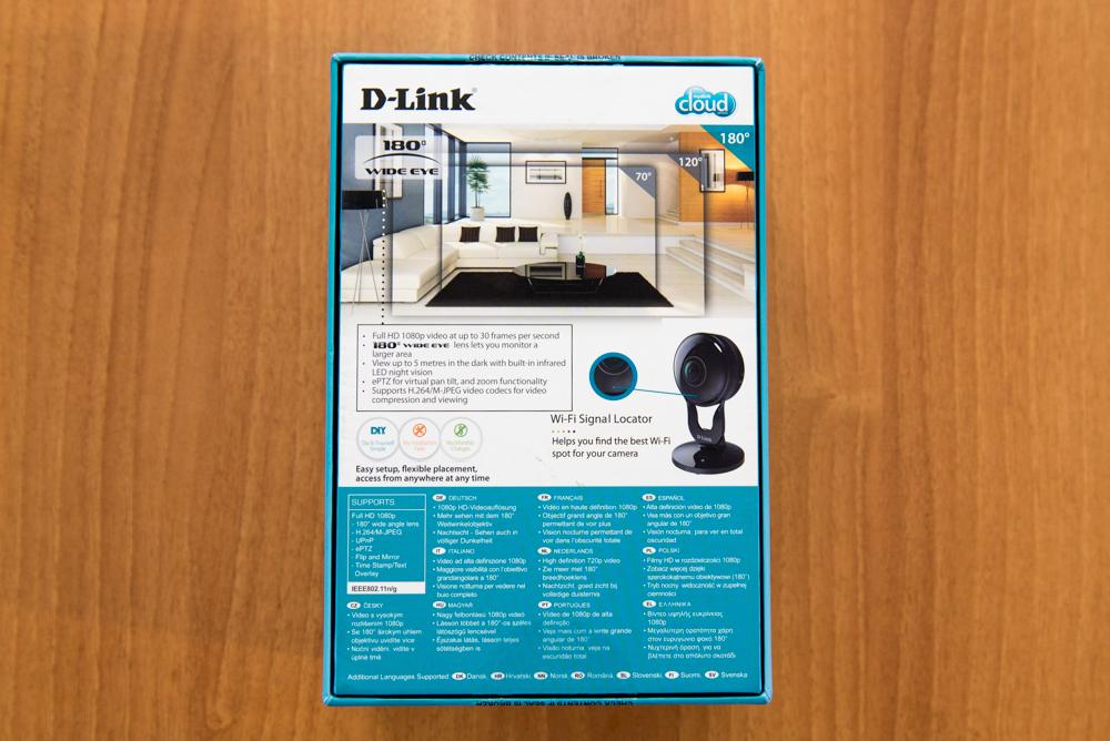 Retro confezione D Link DCS 2530L