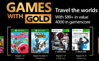 Games with Gold agosto 2017: i giochi gratuiti per Xbox One e Xbox 360