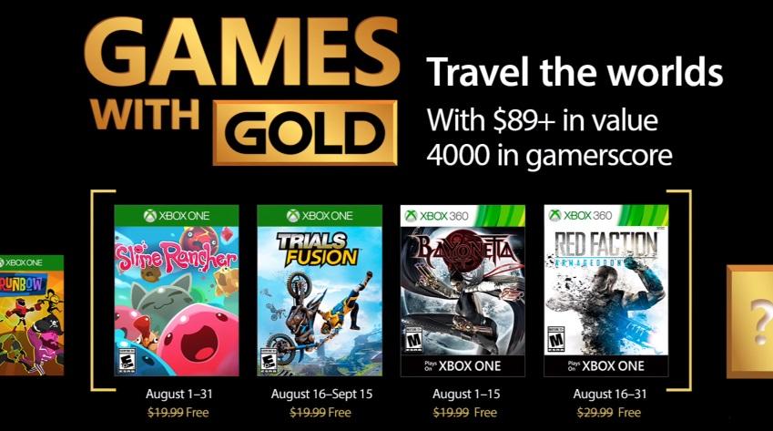 Games with Gold agosto 2017: i giochi gratuiti per Xbox One e Xbox 360