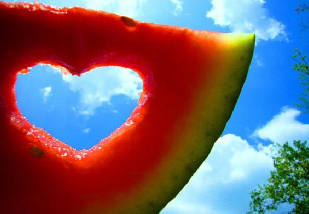 Cocomero cuore estate Ferragosto