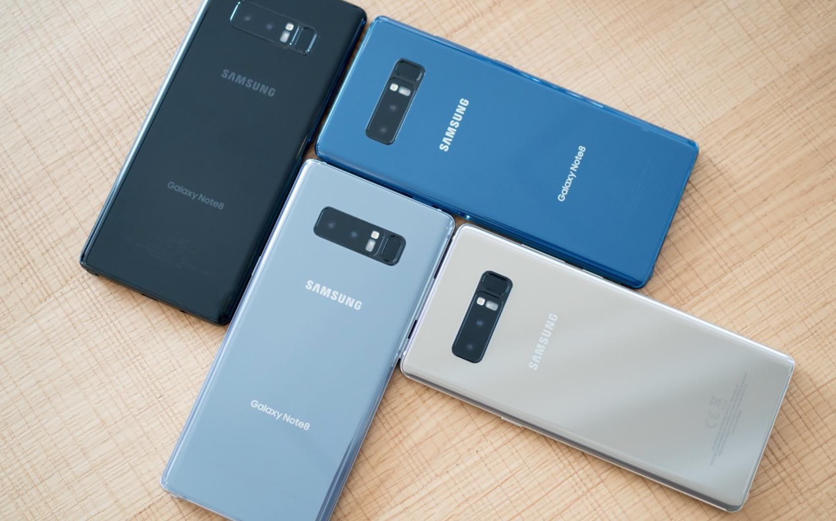 Samsung Galaxy Note 8 sistema a confronto