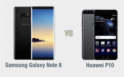 Samsung Galaxy Note 8 vs Huawei P10: il confronto