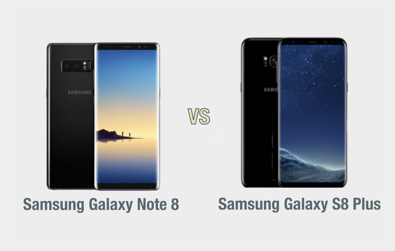 Samsung Galaxy Note 8 vs Galaxy S8 Plus: il confronto