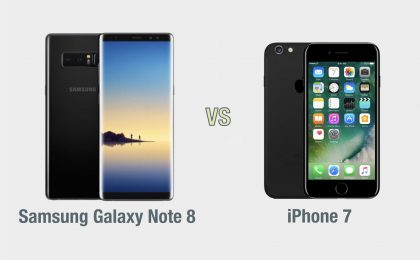 Samsung Galaxy Note 8 vs iPhone 7: il confronto