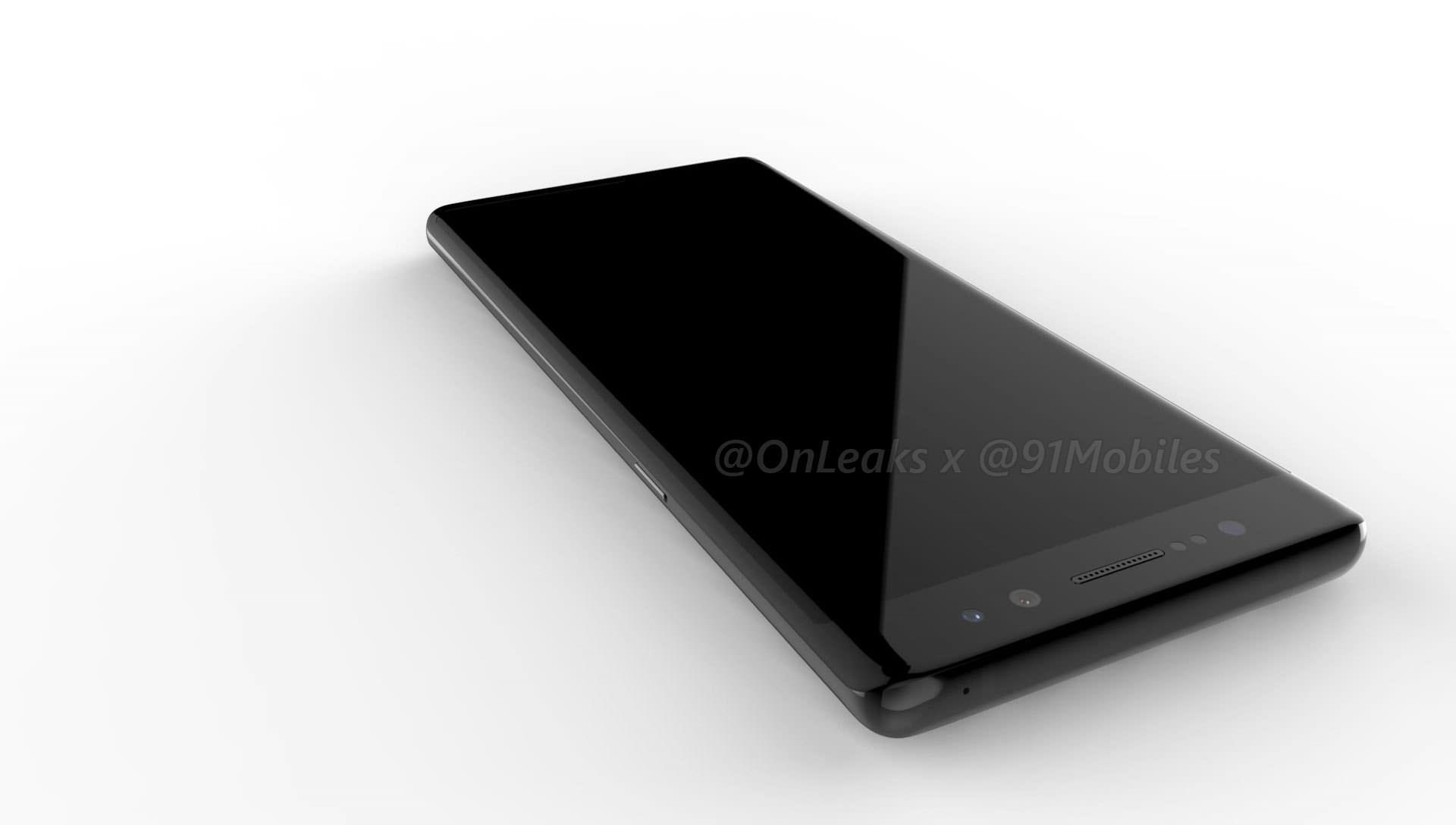 Samsung Galaxy Note8_fronte render
