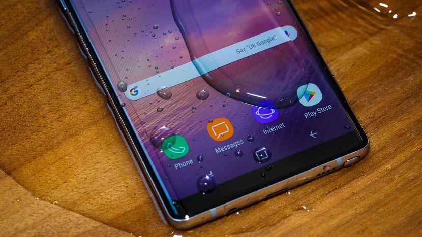Schermo Note 8 di Samsung