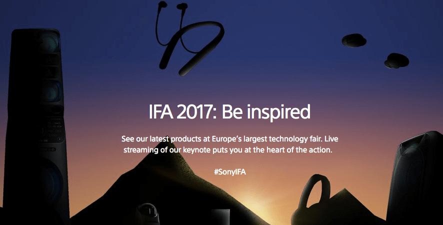 Sony a IFA 2017: i prodotti presentati