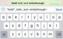Whatsapp come scrivere in corsivo, grassetto e sbarrato