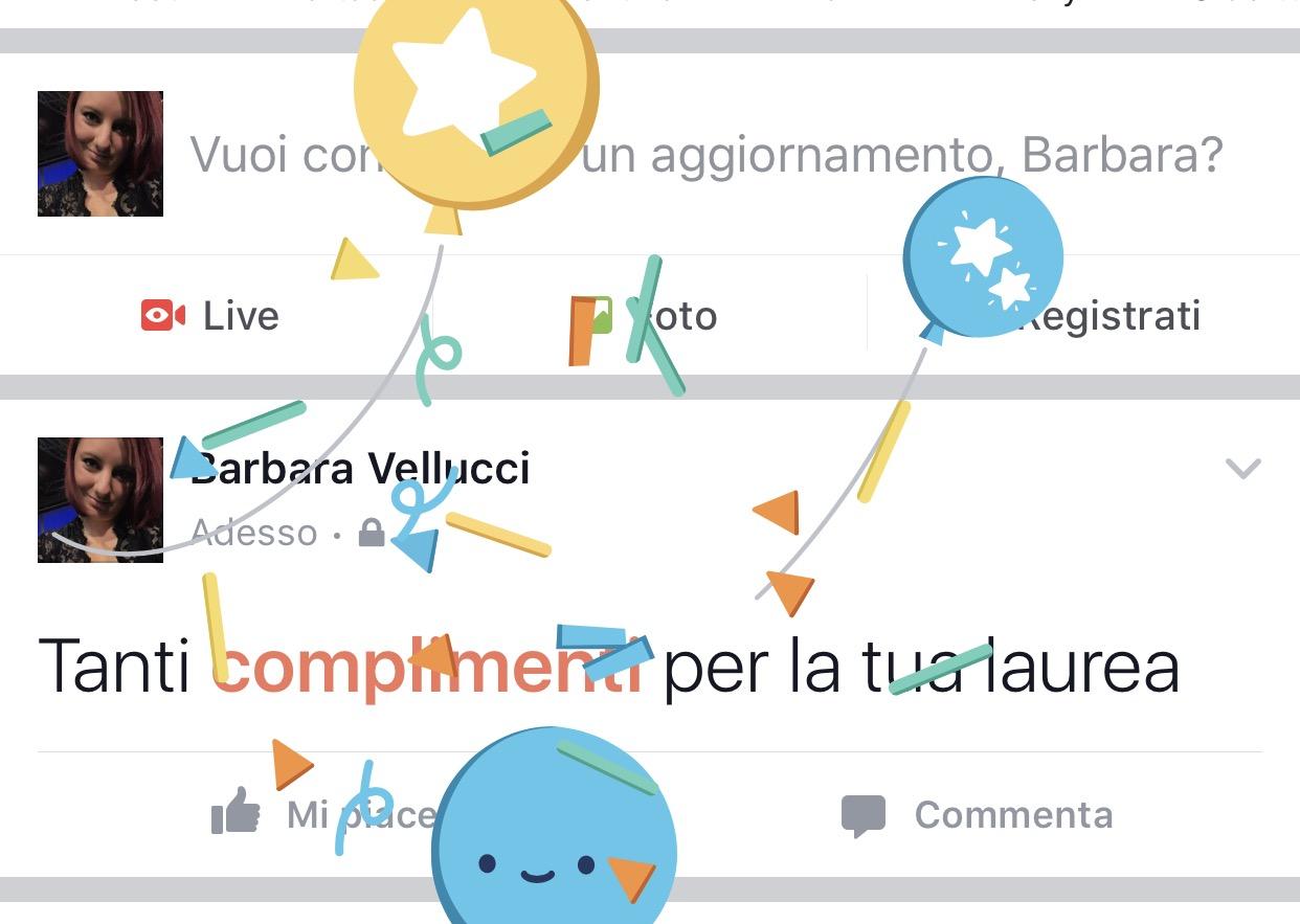 Facebook complimenti: il trucco per lanciare palloncini