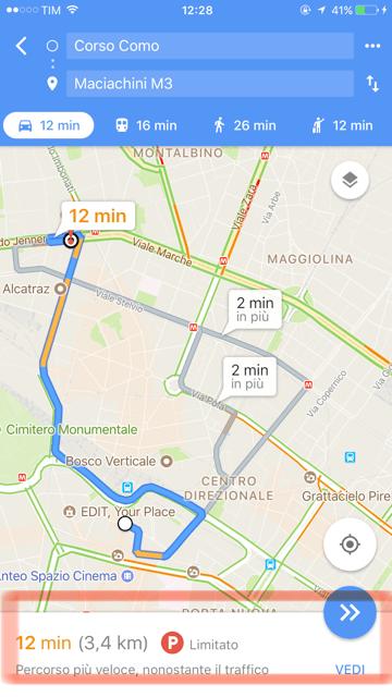 google maps trova parcheggio roma milano