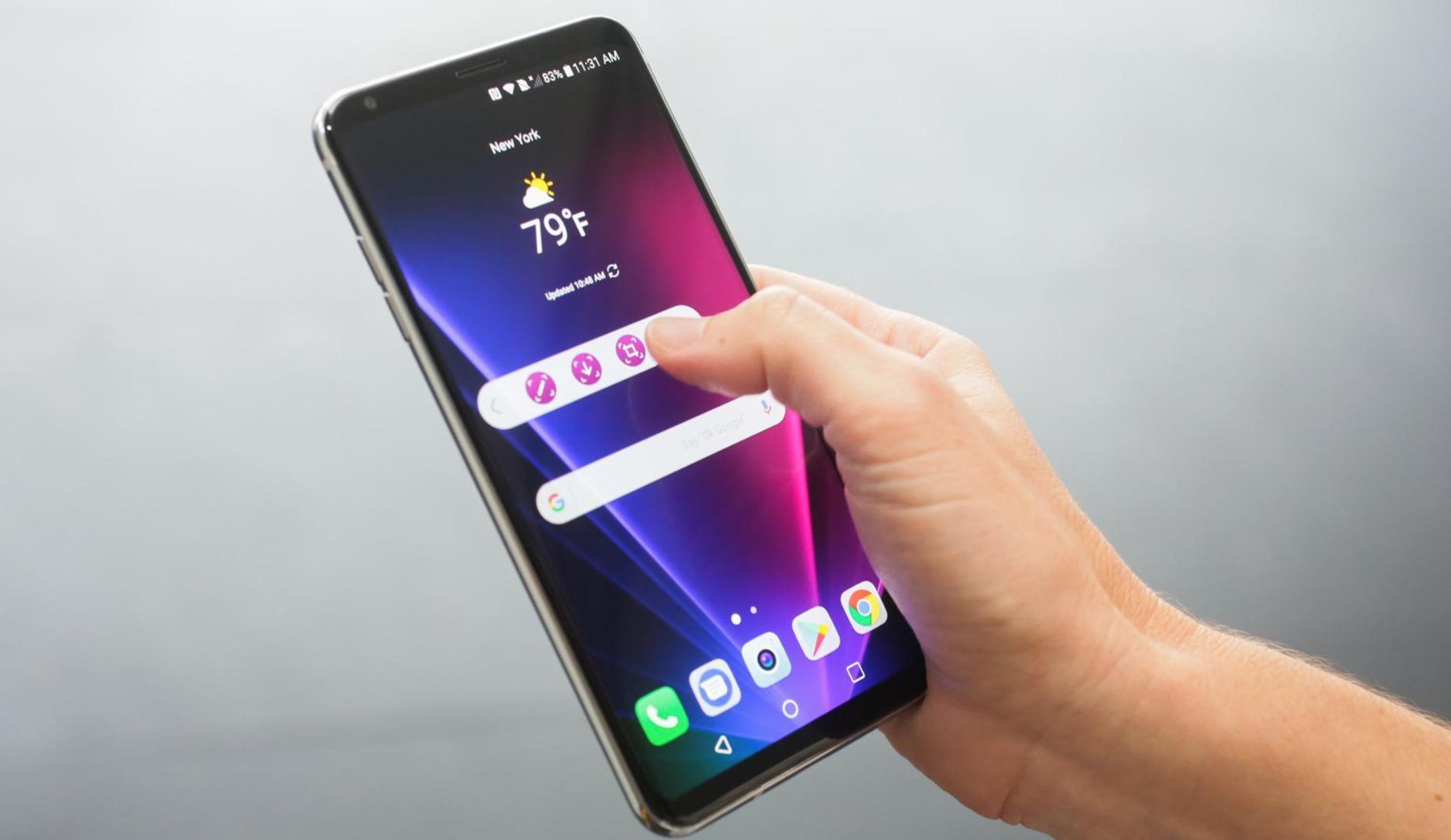 LG V30 design bezel less