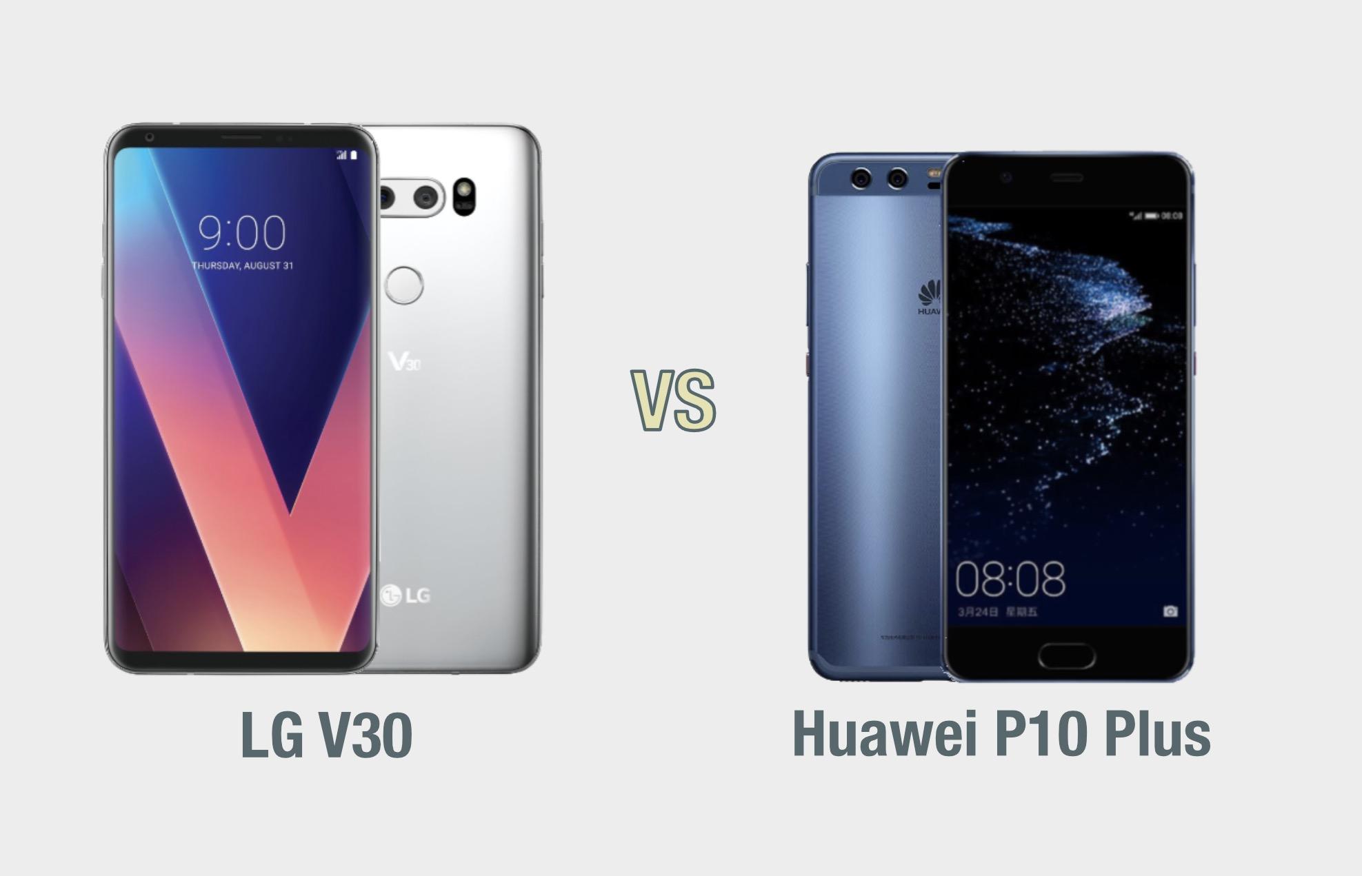 LG V30 vs Huawei P10 Plus: il confronto