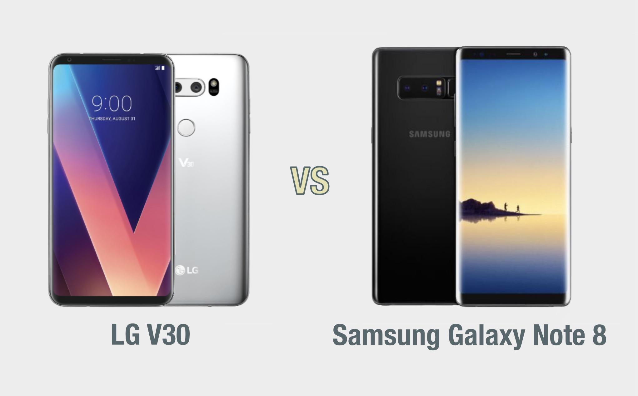 LG V30 vs Samsung Galaxy Note 8: il confronto