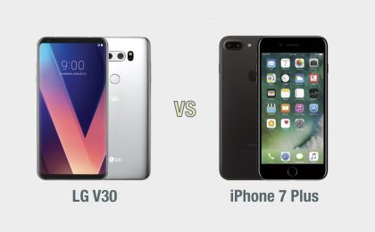 LG V30 vs iPhone 7 Plus: il confronto