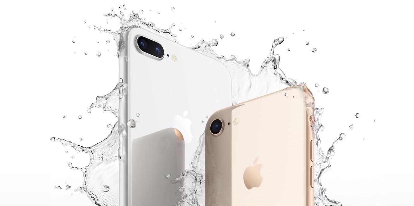 Resistenza schizzi acqua iPhone 8