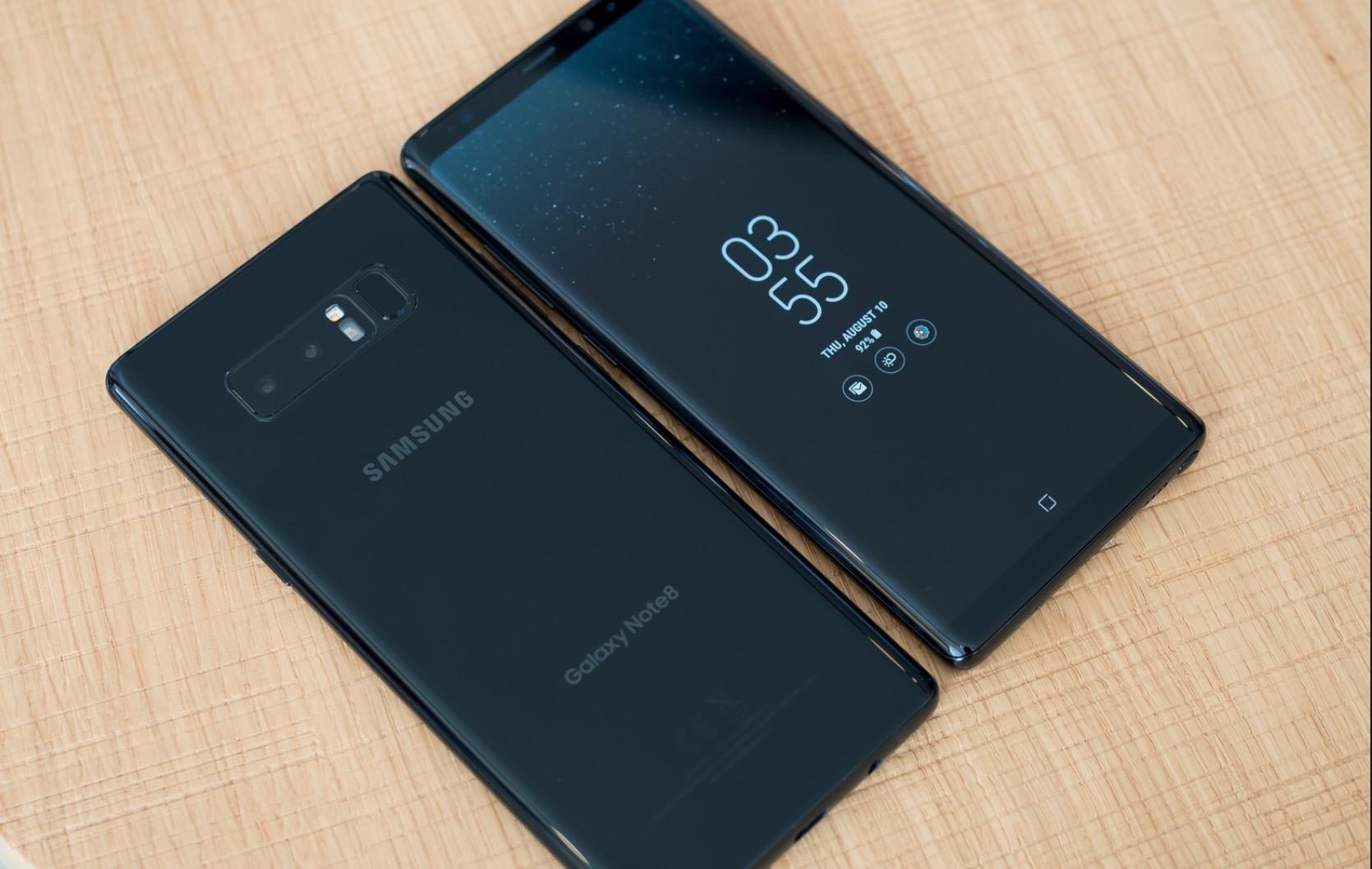 Samsung Galaxy Note 8 sistema operativo