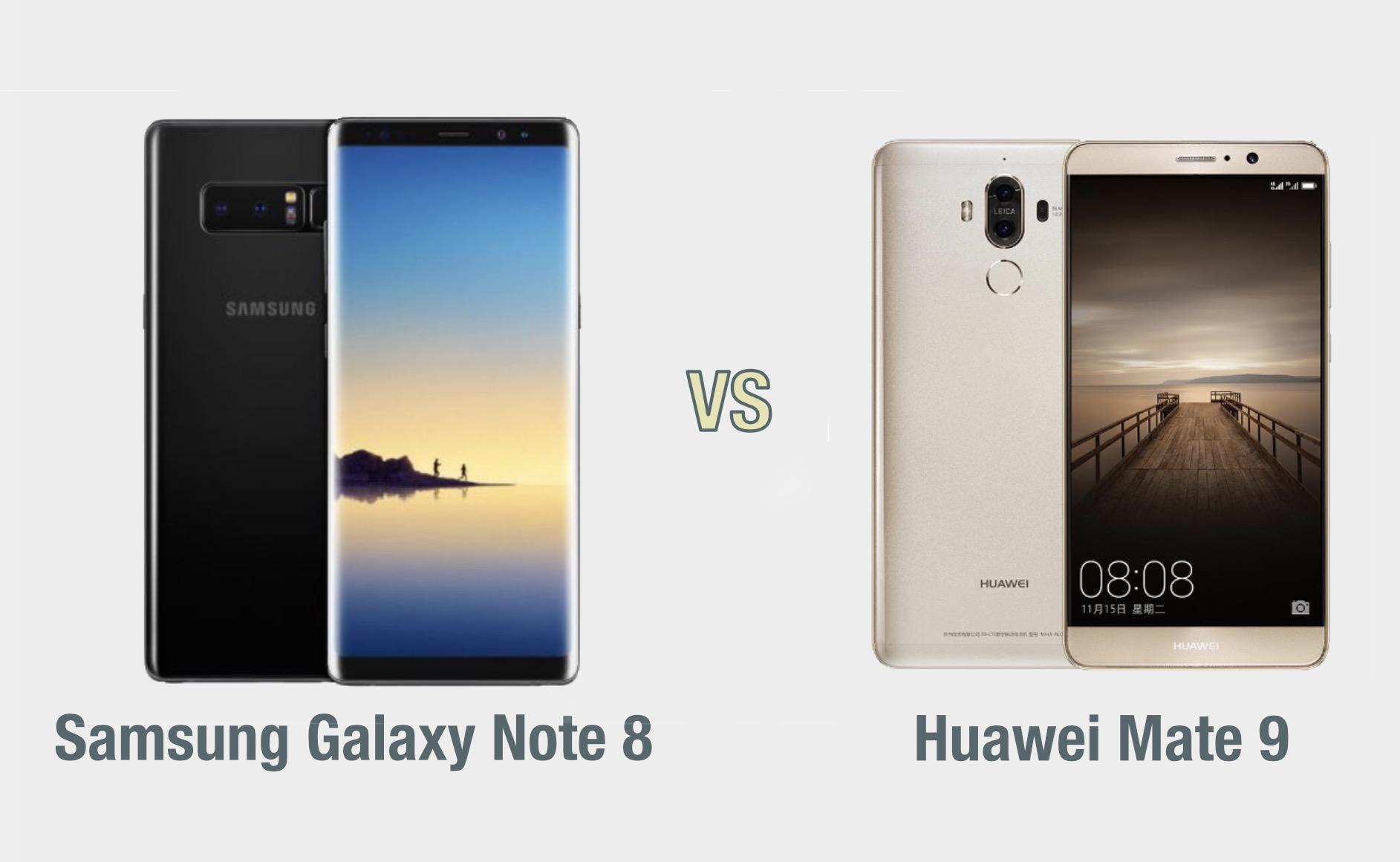 Samsung Galaxy Note 8 vs Huawei Mate 9: il confronto