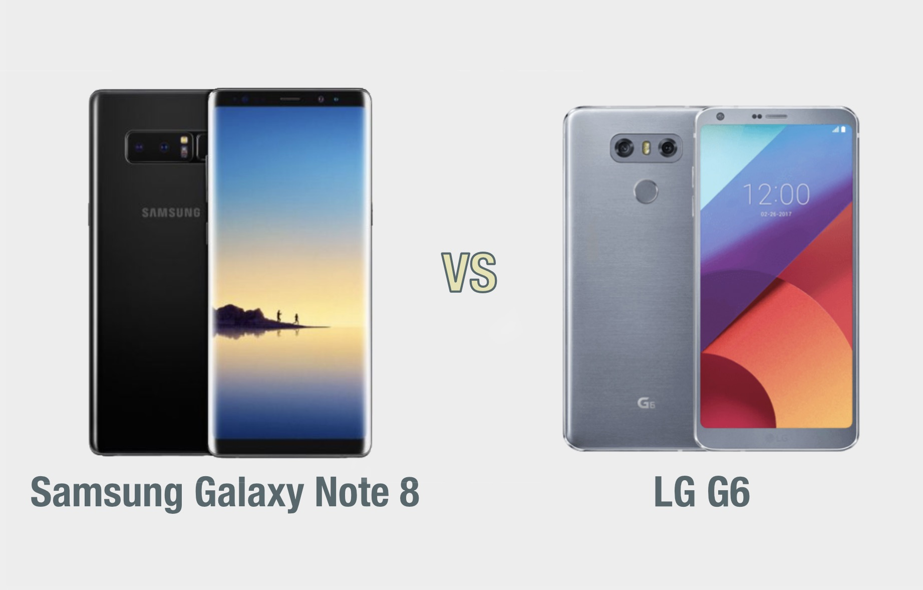 Samsung Galaxy Note 8 vs LG G6: il confronto