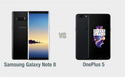 Samsung Galaxy Note 8 vs OnePlus 5: il confronto