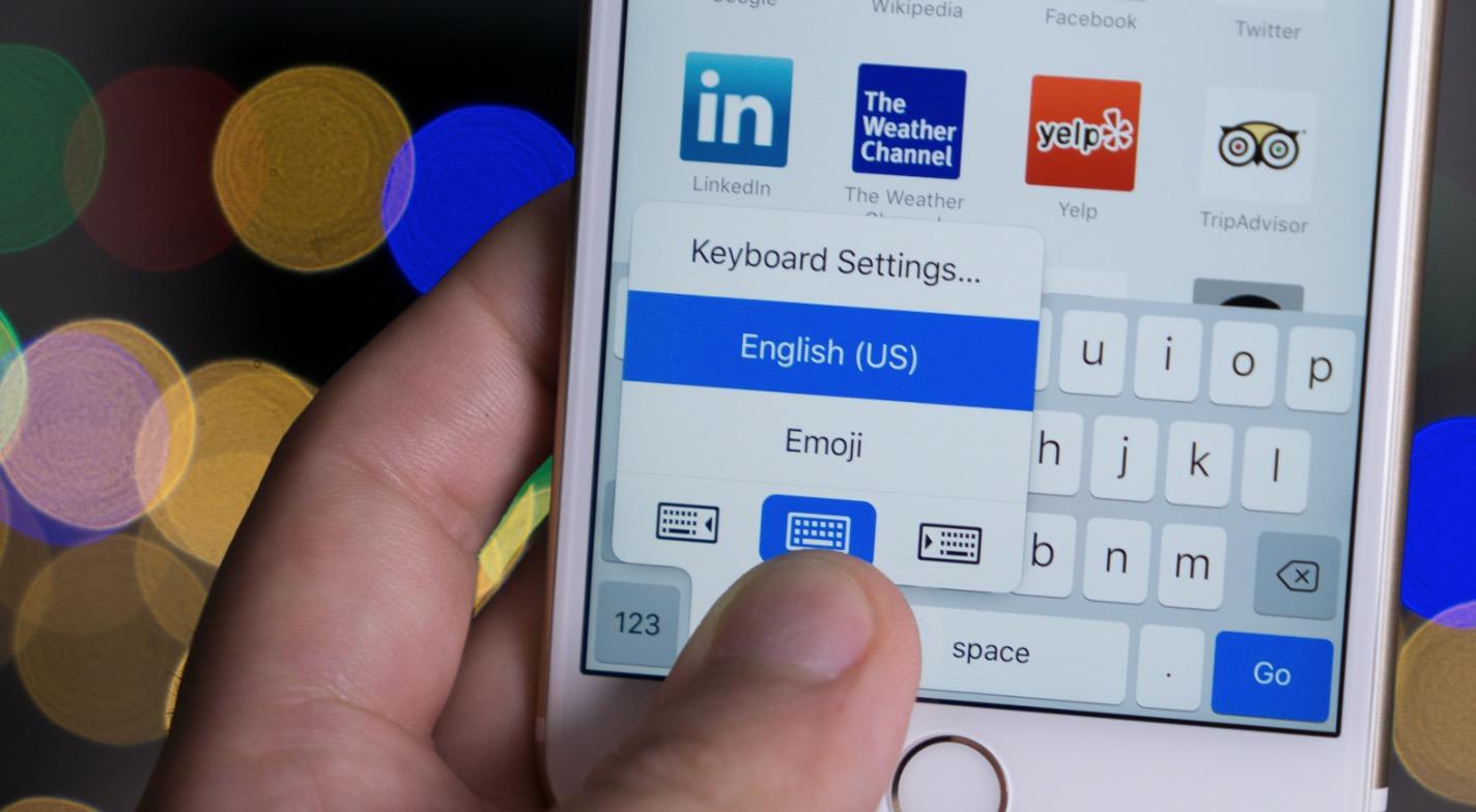 Schiaccia tastiera iOS 11