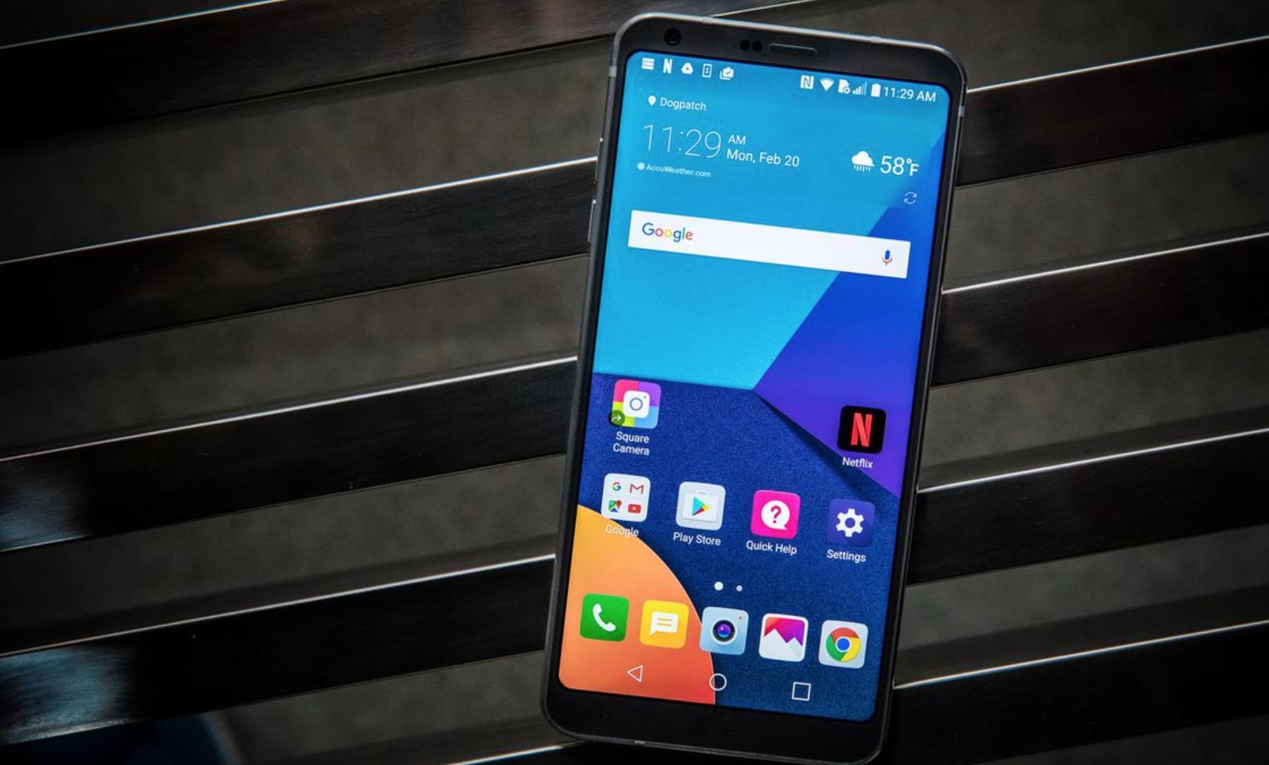 Sistema operativo Android LG G6