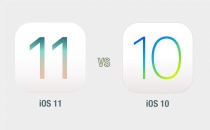 iOS 11 vs iOS 10: il confronto