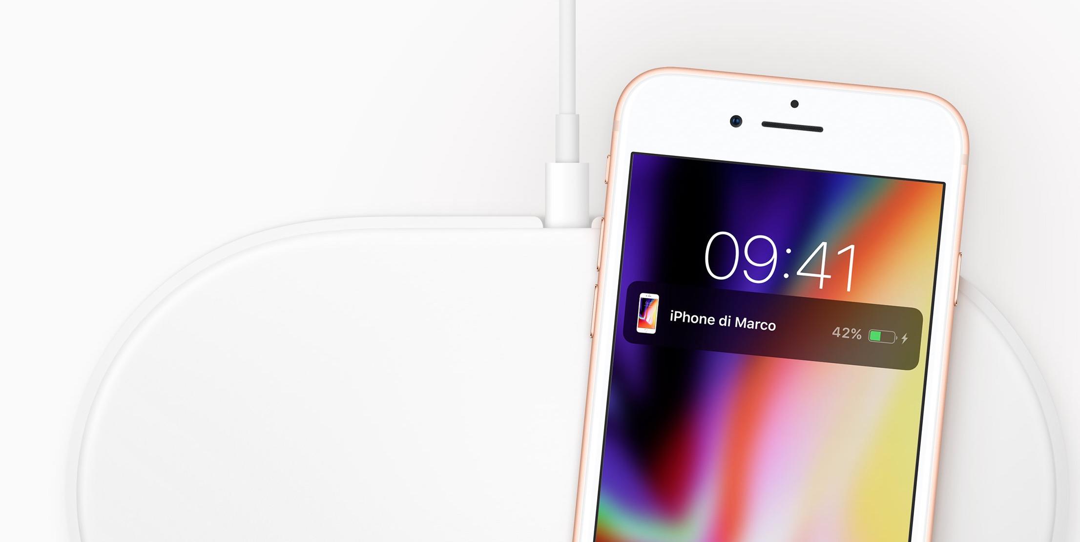 iPhone 8 Plus ricarica wireless