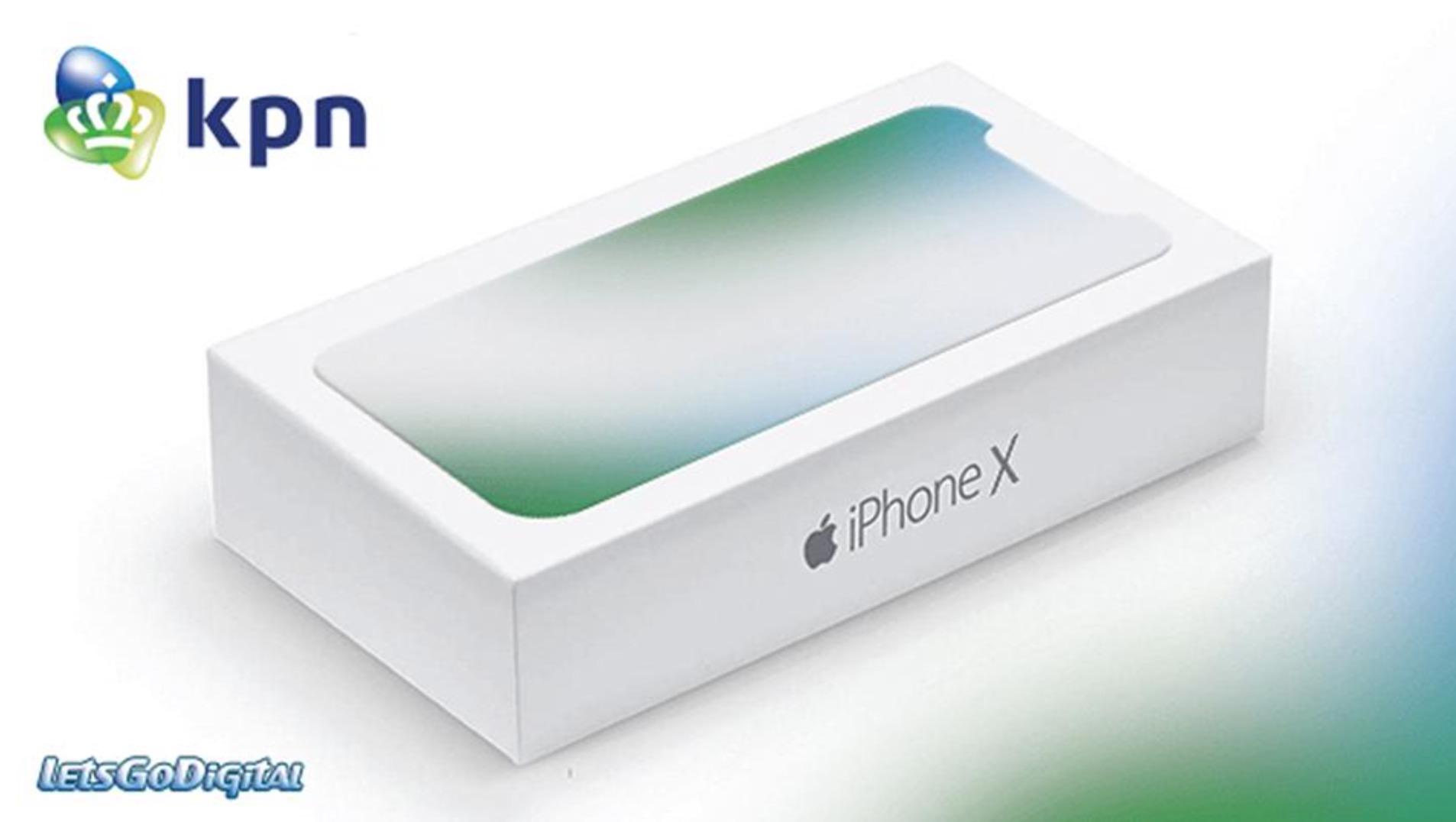 iPhone X confezione scatola smartphone