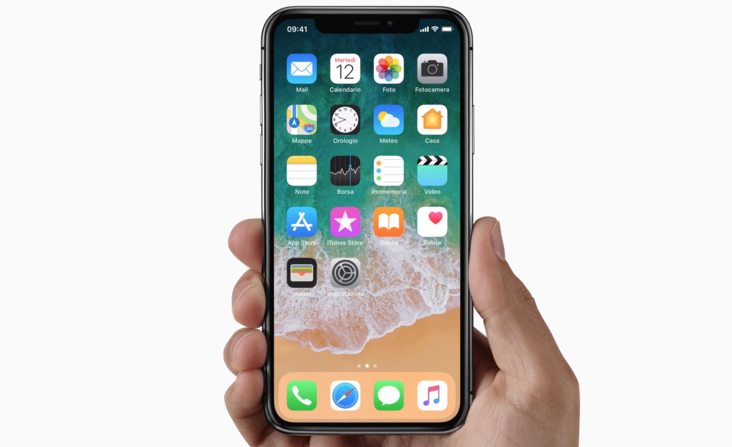 iPhone X design innovativo