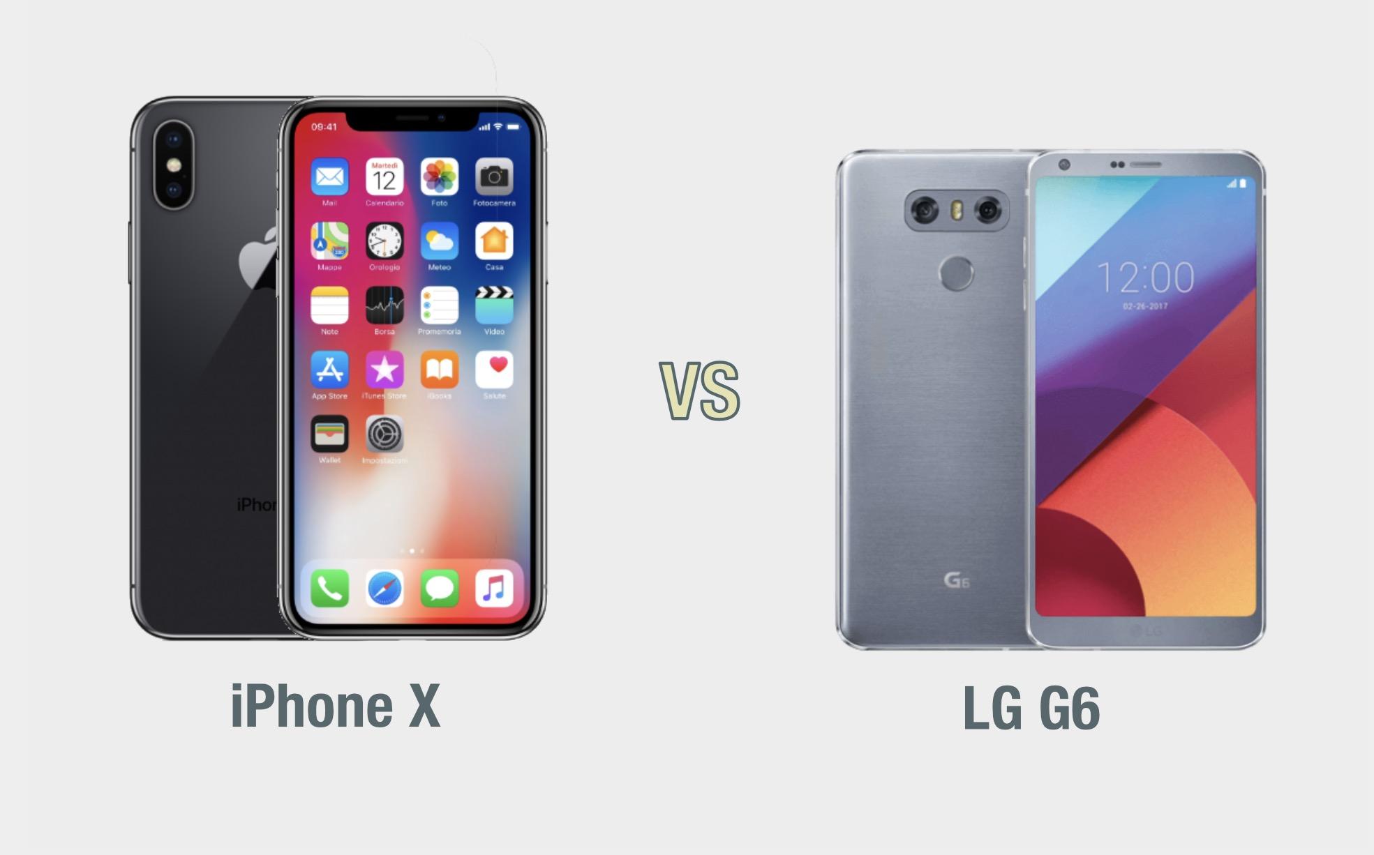 iPhone X vs LG G6: il confronto