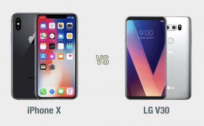 iPhone X vs LG V30: il confronto