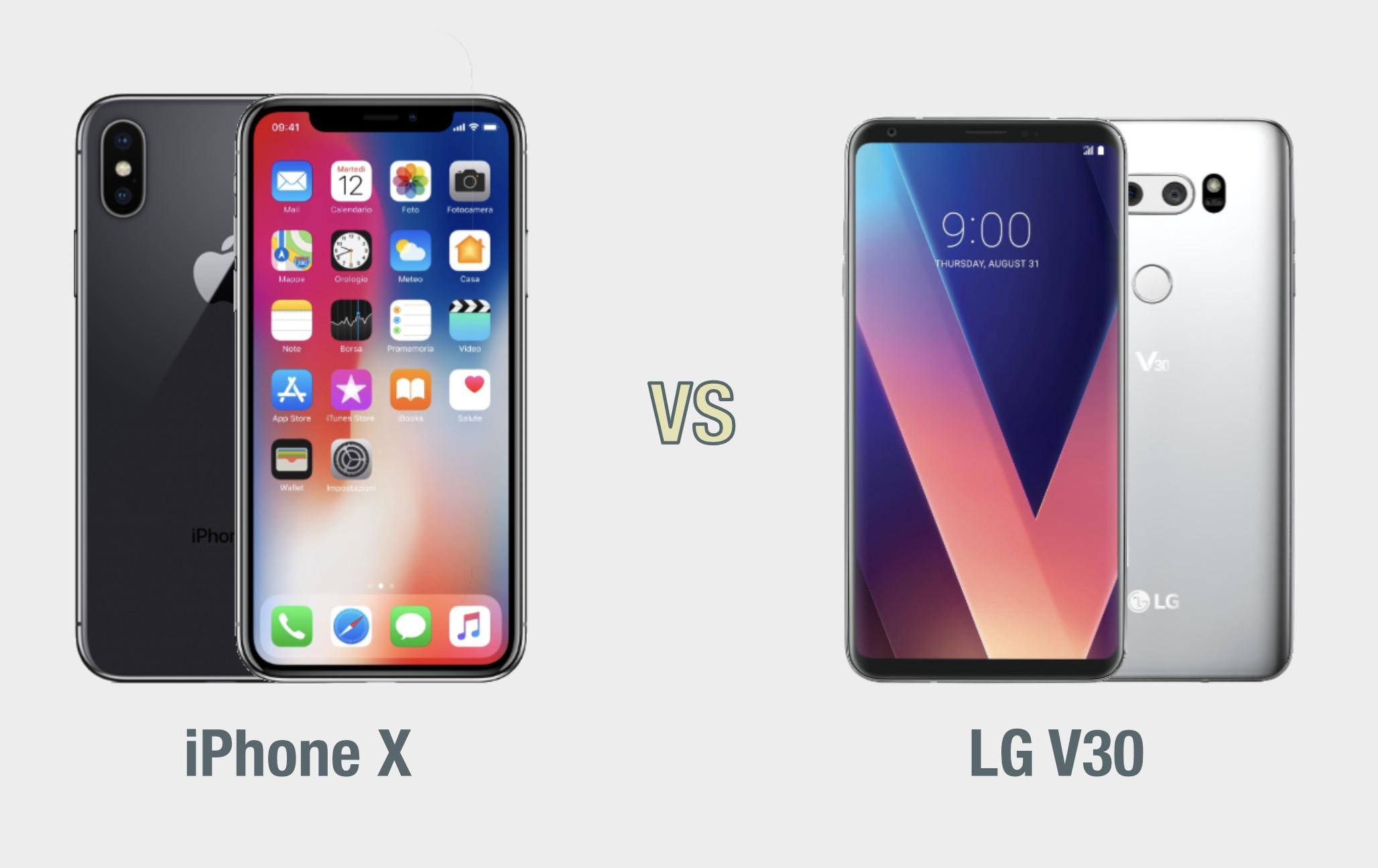 iPhone X vs LG V30: il confronto
